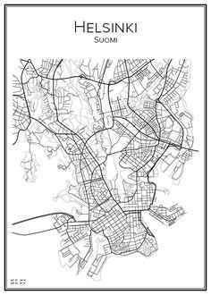 Stadskarta över Helsingfors