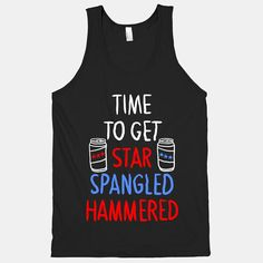 Time To Get Star Spangled Hammered Tank by LookHUMAN on Etsy, $26.00