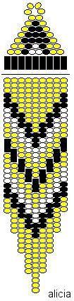 Brick stitch pattern.