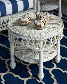 Smoothly woven tables are the perfect finish.  | Frontgate: Live Beautifully Outdoors