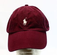 #7 Maroon polo hat, adjustable sizing.