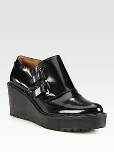 3.1 Phillip Lim - Wallace Leather and Metal Wedges - Saks.com, 525