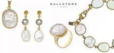 Conjunto plata 925 chapado dorado y piedras naturales www.pilarbreviati.es