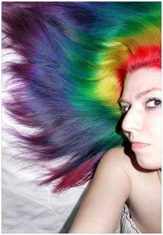 Rainbow Hair by Lizzy Davis (a.k.a 'lizzys-photos') #rainbow #hair I've done something similar to this