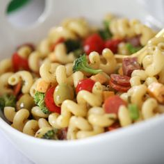 Really Good Pasta Salad recipe packed with flavor and perfect for summer entertaining   Inspired by Charm