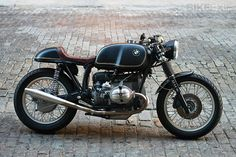 Vintage BMW motorcycle.