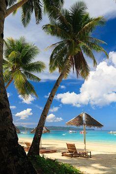 The White Beach, Boracay island, Philippines....