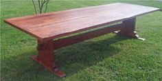Google Image Result for http://www.cottagehomemaine.com/images/126x48_Plank_Top_Trestle_Table_Rustic_Cherry.jpg