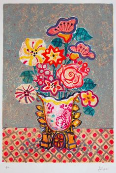 Use of bright block colour, childlike, big shapes - possible background ideas Bohemian Flowers, Bohemian Art, Paintings I Love, Floral Paintings, Arte Floral, Naive Art, Art Party, Watercolor Flowers, Art Images