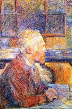 Portrait of Van Gogh. Henri de Toulouse-Lautrec (24 November 1864 - 9 September…