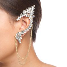 crystal elf ear.. Probably would never ever wear this.. But wow thats cool.