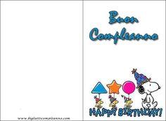 Biglietto Compleanno Snoopy