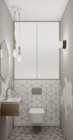 Space Saving Toilet Design for Small Bathroom - Home to Z - Bathroom Ideas Modern Bathroom Tile, Bathroom Tile Designs, Bathroom Design Luxury, Tiny House Bathroom, Bathroom Toilets, Modern Bathroom Design, Bathroom Flooring, Bathroom Ideas, Bathroom Small
