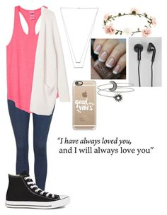 """And I always will"" by wish-and-dream ❤ liked on Polyvore featuring Topshop, Victoria's Secret PINK, Converse, Jennifer Zeuner, Accessorize, Monki, OPI, Happy Plugs and Casetify"