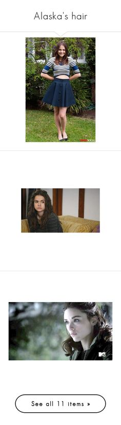 """Alaska's hair"" by marissasettatee ❤ liked on Polyvore featuring maia mitchell, teen wolf, people - crystal reed, crystal, crystal reed, hair, people, pictures, accessories and hair accessories"