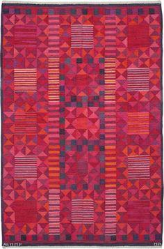 Vintage Rugs: Vintage Rug Swedish Flat weave for Scandinavian scandi interior decor, Scandinavian living room