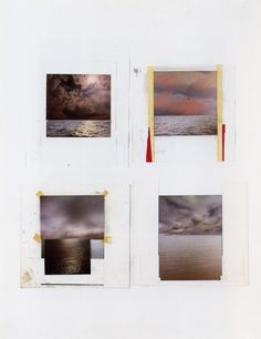 """""""Just about all the seascapes (…) depict collaged motifs. The sea and cloud sections came from different photographs then collaged together in a single image. The successful paintings were dependent on finding exactly the right mood between the combined images."""" (Gerhard Richter, Comments on some works, 1991)"""