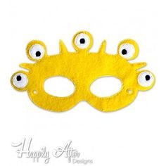 Five Eyed Monster Mask ITH Embroidery Design