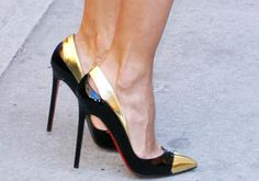 Christian Louboutin black and gold