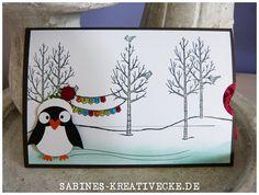 Pinguin-Slidercard, Guten Rutsch für Pingu :-)