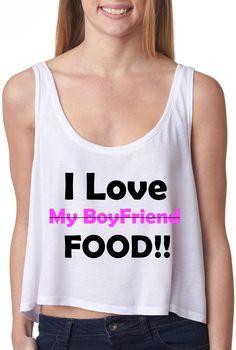 I love food crop top
