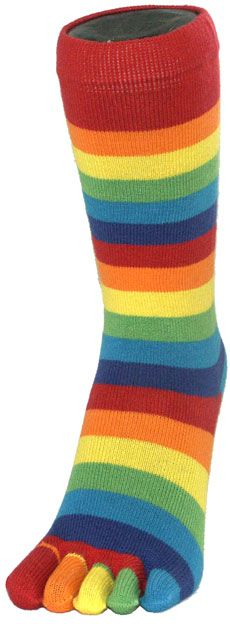 Stripey Socks - Rainbow Toe Socks ..they didn't half itch