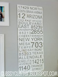 How to make a Subway Art Sign by Classy Clutter