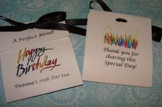 Happy Birthday Words 50th 60th 70th 80th Tea Party by SuLuGifts,