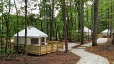 In Sweetwater Creek State Park, there is a Yurt Village which has easily become one of the coolest places to camp in Georgia. Oklahoma, Wisconsin, Sweetwater Creek State Park, Cool Places To Visit, Places To Go, Tennessee, Camping In Georgia, Georgia State Parks, Camping Glamping