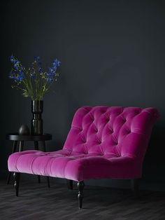 From sofa velvet sofa velvet couch deep pink violet vibrant color velvet upholstery arm ch&; From sofa velvet sofa velvet couch deep pink violet vibrant color velvet upholstery arm ch&; pfefferino pfefferino Anke Haus From […] decoration for home black Velvet Furniture, Funky Furniture, Furniture Decor, Furniture Design, Furniture Dolly, Casa Lea, Pink Accent Walls, Living Room Decor, Bedroom Decor