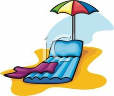 Beach Chairs Transparent PNG Clip Art Image