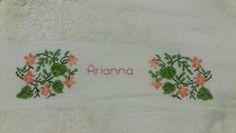 Asciugamani personalizzati ricamati a punto croce