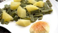 Karlos Arguiñano elabora un plato vegetariano de judías verdes con patatas cocinadas al vapor con mahonesa de ajo y pimentón.
