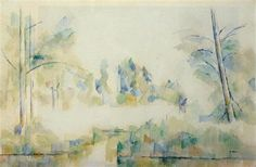 Trees by the Water - Paul Cezanne