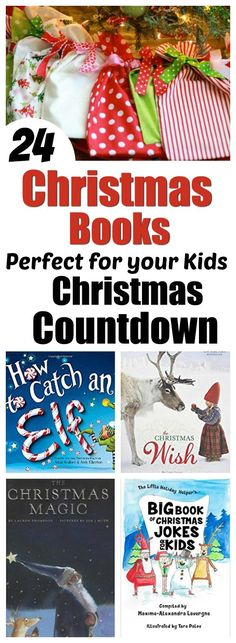 All you need is one book to get started! Add more as you can! And here is a great list of much-oved Christmas books to get you started! 24 Books for Kids! Perfect for a fun Christmas Countdown! Christmas Books For Kids, Christmas Jokes, Magical Christmas, Christmas Holidays, Christmas Ideas, Family Christmas, Christmas Stuff, Holiday Ideas, Holiday Gifts