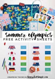Grab your FREE Summer Olympics Activity Sheets and get the whole family into the spirit of the upcoming Olympic Games! Hooray!