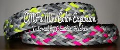 CMF's Mini Color Explosion Paracord Tutorial, Paracord Bracelet Instructions, Paracord Bracelets, Color Explosion, Swiss Paracord, Knot Braid, Diy Dog, Dog Collars, Mini