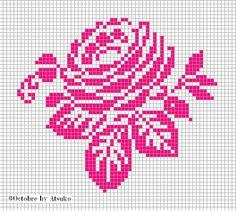 Free rose cross stitch pattern #stitching #floral
