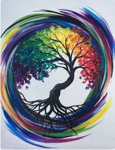Join us for a Paint Nite event Tue Mar 2018 at 84 Boston Turnpike Shrewsbury. Join us for a Paint Nite event Tue Mar 2018 at 84 Boston Turnpike Shrewsbury, MA. Purchase your Arte Inspo, Tree Of Life Painting, Tree Of Life Artwork, Art Plastique, Rock Art, Painting Inspiration, Painting & Drawing, Sun Painting, Rainbow Painting
