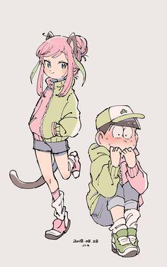 ピンクみどり Osomatsu San Doujinshi, Sans Cute, Dark Anime Guys, Ichimatsu, Light Novel, Fanart, Anime Ships, Dear God, Disney Movies