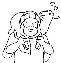 The Good Shepherd Bible Coloring Pages | Coloring Pages of good shepard