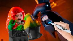 The LEGO Batman Movie Vs Poison Ivy Coloring Book Pages Video For Kids