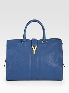 Yves Saint Laurent  YSL Cabas Chyc Large Leather East West Bag