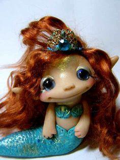 OOAK Mermaid Princess Trollfling Troll doll Kaci by by Trollflings, $152.00