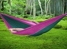 fivejoy   parachute double hammock with built in travel bag for easy storage  u2013  l  x  w   u2013 2 x wide carabiners and 2 x long climbing ropes included buy stansport 31005 hammock tree straps at harvey  u0026 haley for only      rh   pinterest