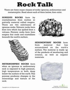 Classifying Rocks Worksheet