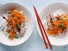 Vietnamese Grilled Smoked Pork Chop Rice Bowls Recipe : Food Network Kitchen : Food Network