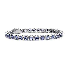 Blue Nile Pink Sapphire Pave Bar Bracelet in 14k Rose Gold (1.5mm) fBf7IBW