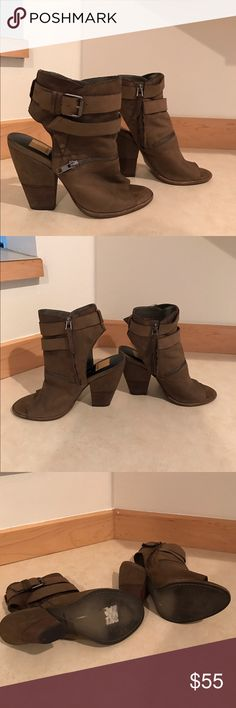 Dolce Vita Nayla Peep-toe Bootie Dolce Vita Nayla Peep-toe Bootie, only worn 2x, excellent condition. Size 9, taupe Dolce Vita Shoes Ankle Boots & Booties