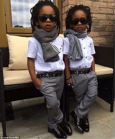 These Stylish Twins Boys Dress Better Than You Black Kids Fashion, Little Boy Fashion, Kids Fashion Boy, Latest African Fashion Dresses, African Print Fashion, Swag Outfits, Boy Outfits, King Fashion, Men's Fashion